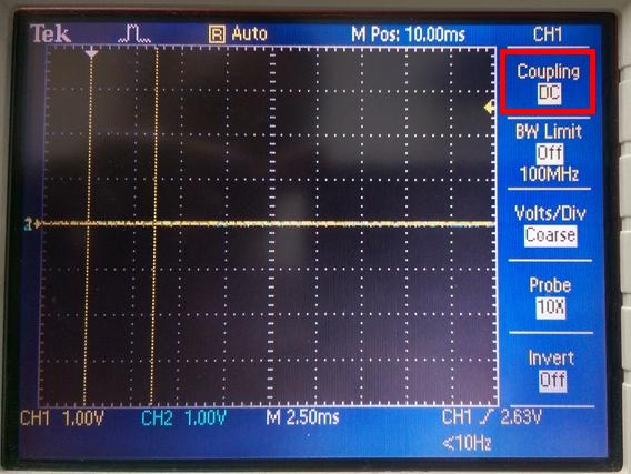 示波器的 Coupling 選項