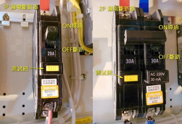 ELCB-斷路器加上漏電偵測