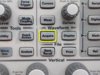 示波器的Acquire按鈕