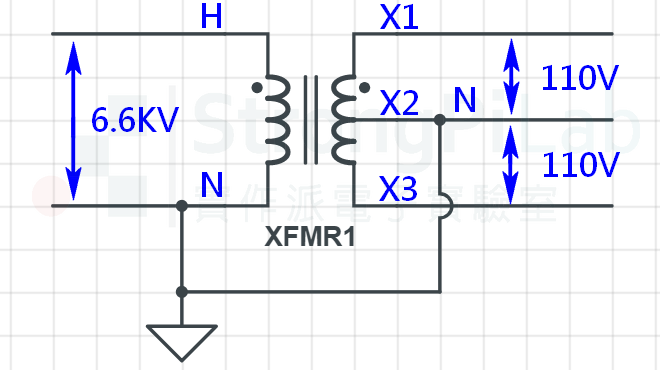 變壓器-中性線共同接地