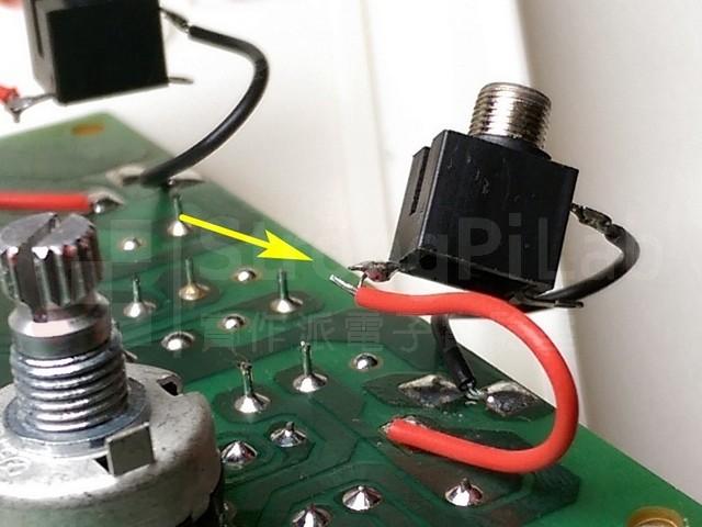 插孔焊接品質不良 poor soldering