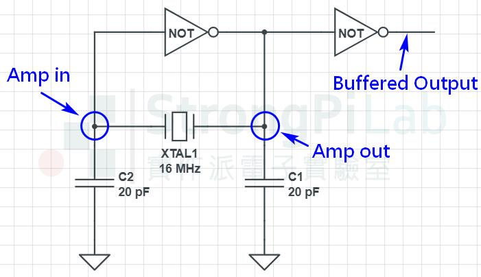 XTAL晶體振盪器-線路圖