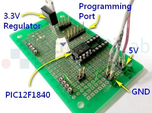 PIC12F1840接線很容易,包含 watch dog 功能
