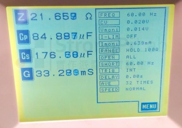 鼓起的820uF電容,容值明顯不足