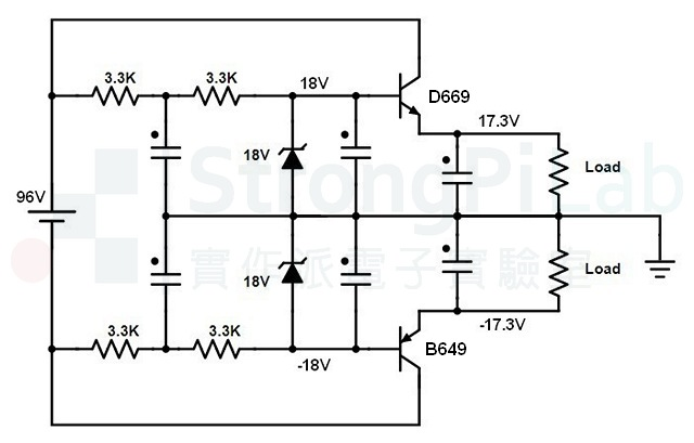 前置放大器-電源電路