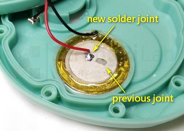 蜂鳴器的新焊點