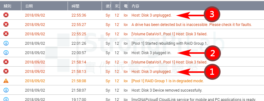 HDD was reported unplugged at first time
