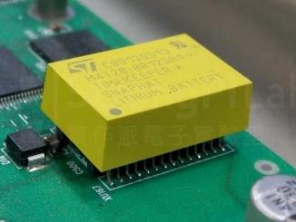 儀器主機板上的電池