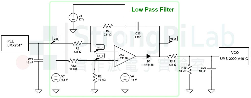 PLL的低通濾波器LPF電路