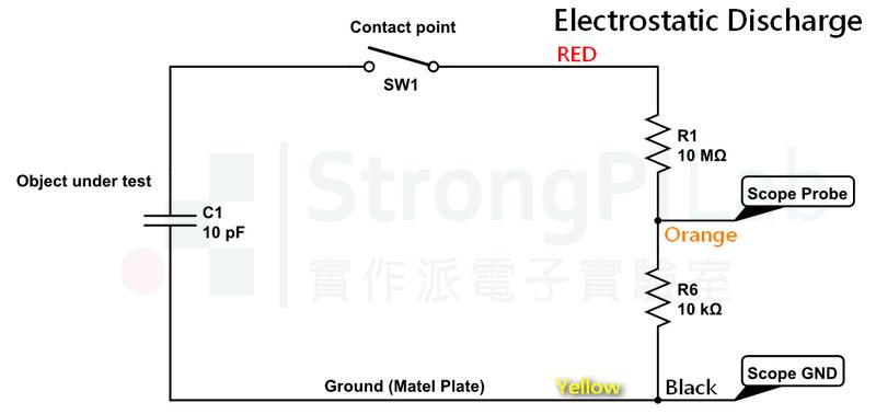 靜電 放電的接線圖