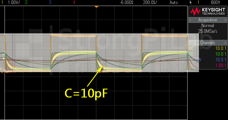把電容移除後,剩下的電容值為10pF