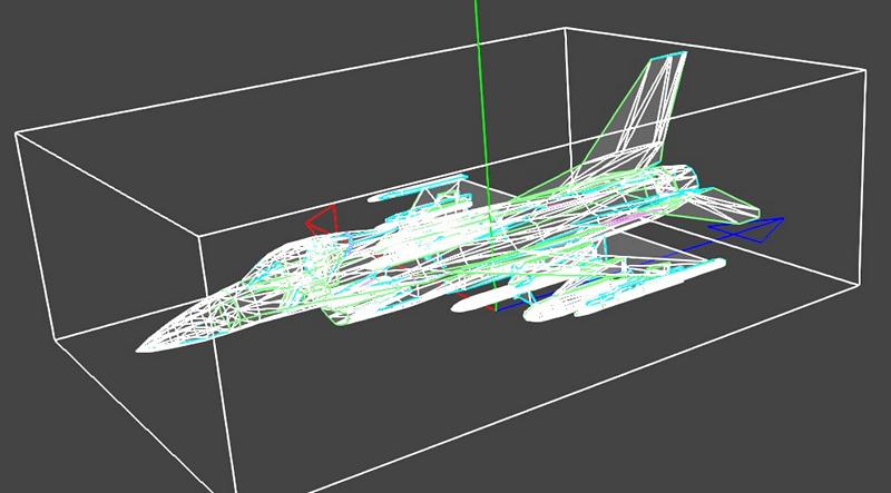 利用 三角函數 才能把戰機投影到你看到的平面上