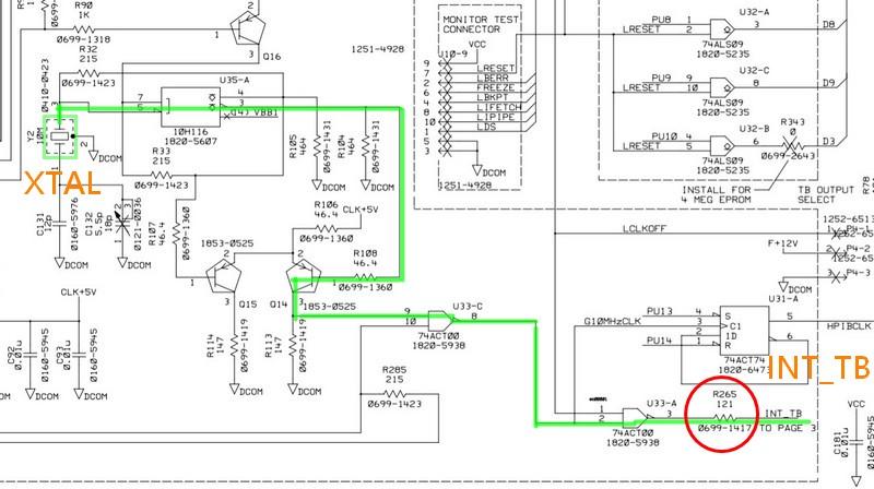 計頻器 主機板的振盪器線路